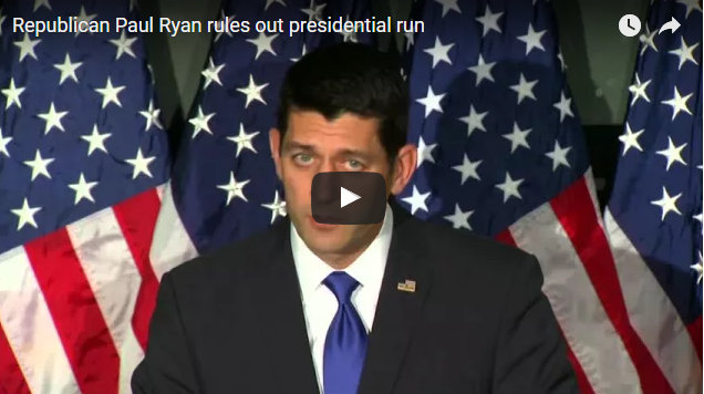 Speaker Paul Ryan Rules Out Presidential Run
