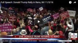 Trump Barnstormed Into Reno Yesterday & Security Scare Briefly Interrupts Speech
