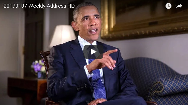 President Obama's Weekly Address & Preview Of Farewell Address On Tuesday