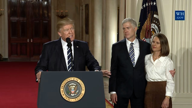 President Trump Nominates Appeals Court Judge Neil M. Gorsuch For Supreme Court