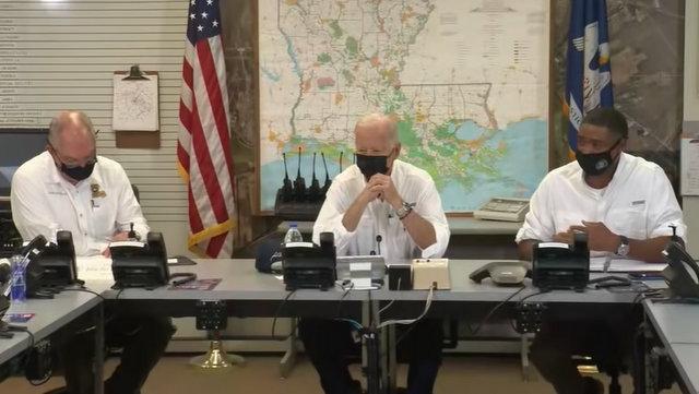 President Biden in a Briefing on the Impact of Hurricane Ida